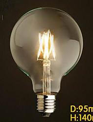Décorative Ampoules Globe , E26/E27 6 W LED Intégrée LM V