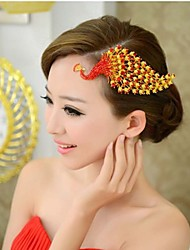 Korean Golden Peacock Alloy Bride Diamond Tiara The New High-End Wedding Jewelry