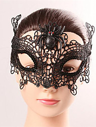Halloween Fashion Sexy Spider Black Lace  Eye Wear