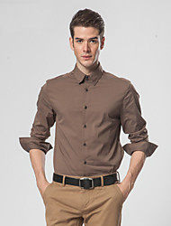 Men's Shirt , Cotton Casual / Work / Formal Pure