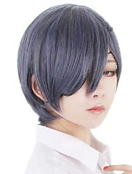 Anime Cos Man Black Grey Short Wigs
