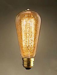 e27 60w ST64 retro retro nostalgie bar decoratie gloeilamp lamp