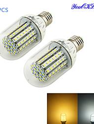 2 Stück YouOKLight Dekorativ LED Mais-Birnen T E26/E27 7W 700 LM 3000/6000 K 90 SMD 3528 Warmes Weiß / Kühles Weiß DC 12 V