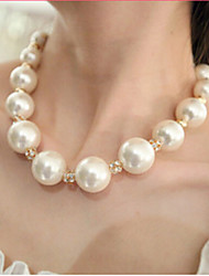 Women's Strands Necklaces Pearl Necklace Pearl Imitation Pearl Rhinestone Simulated Diamond Alloy Bridal White JewelryWedding Party Daily