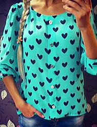 Women's Prin Shirt (chiffon)