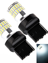 Yobo 7440 7443 48SMD 4014 12w 960LM 6500-7000K белая лампа для автомобиля тормозной лампа (2 шт / DC 12-24В)
