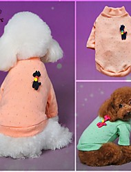 Cat / Dog Coat / Sweater Green / Blue / Pink Winter Polka Dots Wedding / Cosplay