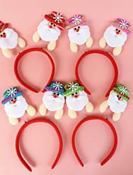 Decor Old Man Santa Claus Head Hoop Head Buckle Headwear For Christmas Party (Random Color)