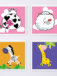 Canvas Print with Frame for Children's Room Style 4pcs/set