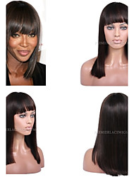 Premierwigs 8A 8''-26'' Bob Straight Brazilian Virgin Glueless Full Lace Human Hair Wigs Glueless Lace Front Wigs