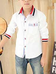 Boy's Cotton Shirt,All Seasons Solid