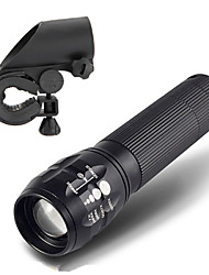 LT LED Flashlights/Torch LED 450 Lumens 3 Mode Cree Q5 / LED 18650 / AAAAdjustable Focus / Waterproof / Rechargeable / Impact Resistant /