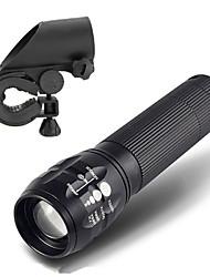 LT Lampes Torches LED LED 450 Lumens 3 Mode LED Cree Q5 18650 AAAFaisceau Ajustable Etanche Rechargeable Résistant aux impacts Tête
