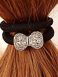 Bow Bowknot Rhinestone Hair Ties Jewelry Hairbands
