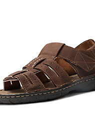 Men's Shoes Outdoor / Athletic / Casual Leather Sandals Black / Brown