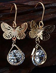 Earring Drop Earrings Jewelry Women Cubic Zirconia / Gold Plated 2pcs Gold