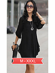 Women's Plus Size Mini Chiffon Dress