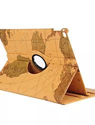 mapa do mundo 360⁰ caso função estande design de alta qualidade bolsa de couro pu para ipad mini-4 (cores sortidas)