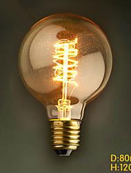 E27 60W G80 Around The Wire American Restaurant Ball Edison Retro Decorative Light Bulbs