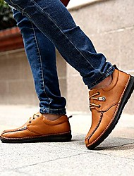Men's Shoes Amir New Style Hot Sales Office & Career / Casual Full-grain Leather Oxfords Orange / Khaki