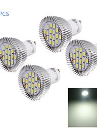 8W GU10 Spot LED MR16 16 SMD 5630 750 lm Blanc Froid Décorative AC 100-240 V 4 pièces