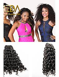 3pcs / lot no procesados extensiones de cabello virgen onda pelo peruano humanos naturales negro 8 '' - 30 '' tejidos de pelo