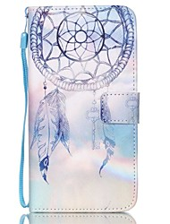 For Samsung Galaxy Case Wallet / Card Holder / with Stand / Flip / Embossed Case Full Body Case Dream Catcher PU Leather SamsungS6 edge