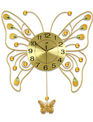 Personality Butterfly Fashion Metal Mute Wall Clock