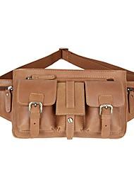 Men Cowhide Casual Waist Bag