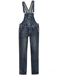 Women's Solid Blue Europe Style Slim Cute Denim Pant , Bodycon / Casual