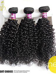 3pc lotto capelli vergini indiani profondi dell'onda riccia non trasformati capelli umani del tessuto dei fasci economici estensioni dei
