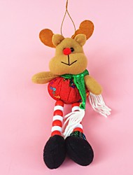 "26CM/10"" Christmas Decoration Gift Hanging Reindeer Doll Plush Toy New Year Gift"