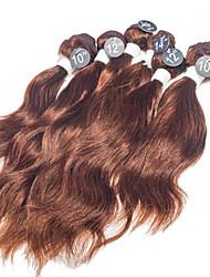 "Natural Wave Virgin Hair Extensions Top Grade 6pcs #4 Indian Virgin Human Hair Weaves 2x10"", 2x12"", 2x14"" 200g/Set"
