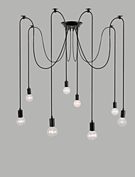 8 Lights Chandeliers / Pendant Lights Traditional/Classic / Retro Bedroom / Study Room/Office / Hallway E26/E27 Metal