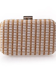 L.WEST Woman Fashion Luxury High-grade Weaving Evening Bag