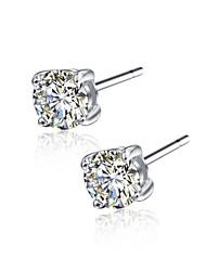 925 Sterling Silver CZ Stone Earring Studs