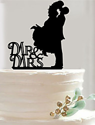 Wedding Party Supplies Fondant Cake Decorating Tools Personalized Customized Acrylic Cake Topper Mr & Mrs