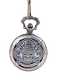 Simple Style Oval Shape Alloy Pocket Watch Key Chain(Bronze)(1Pc) Cool Watch Unique Watch