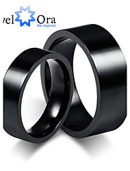Noble Fashion Black Tungsten Steel Wedding Couples Ring For Women&Man