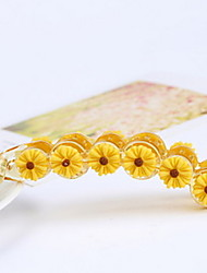 Women Daisy Flower Banana Clip Hairpin