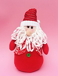 "30CM/12"" Christmas Decoration Gift Standing Santa Claus Doll Plush Toy New Year Gift"