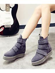Women's Shoes Patent Leather Winter Platform Casual Platform Black / Gray