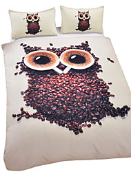 Owl Duvet Cover Set 3D Bedding Set Twin Full Queen King