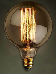 E27 60W G125 Straight Wire Large Bulb Bulb Edison Retro Decorative Light Bulbs