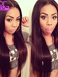 Top Quality Human Hair Silky Straight Lace Front Virgin Peruvian Human Hair Wigs With Baby Hair