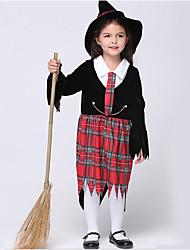 Costumes - Sorcier - Enfant - Halloween / Noël / Carnaval / Le Jour des enfants / Nouvel an - Robe / Chapeau / Cravate