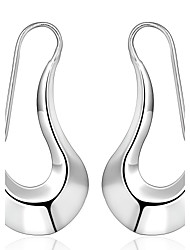 lureme® Fashion Style 925  Sterling Silver Geometry Shaped Earrings
