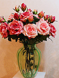 Quality Rose in Silk Cloth Artificial Flower for Home Decoration(10Piece)