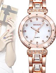 ver weiqin® las mujeres de la marca de lujo relojes de moda de diamantes de imitación de diamante de cristal aumentaron un vestido de oro