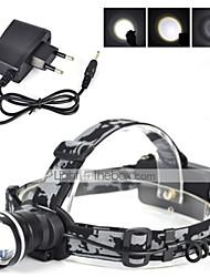 Luci Fascia per torcia in testa LED 3000 Lumens 1 Modo Cree XM-L T6 18650 RicaricabileCampeggio/Escursionismo/Speleologia / Ciclismo /
